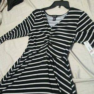 Long sleeve striped dress